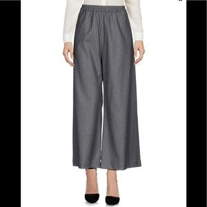 Wool blend Wide leg casual comfy relax sweat pants